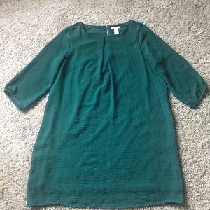 Green 3/4 Sleeve Dress